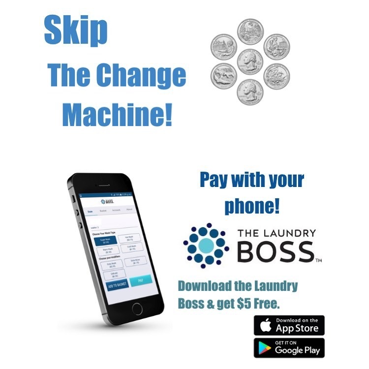 Suncoast Laundromat uses The Laundry Boss Mobile App