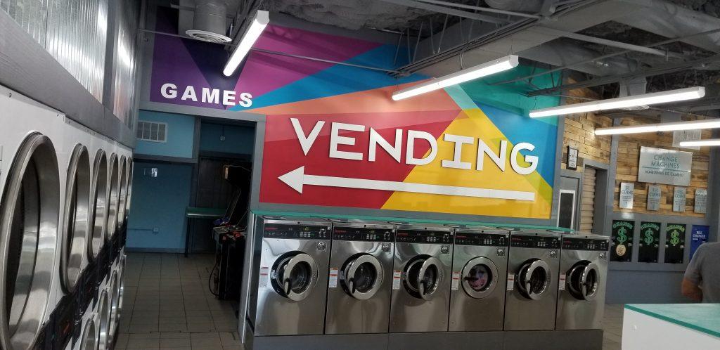 Busch | Suncoast Laundromat new vending sign